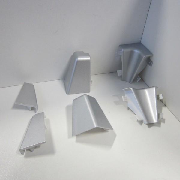 Ecken-Set für Sockelleiste K40C - Silber (Uni)