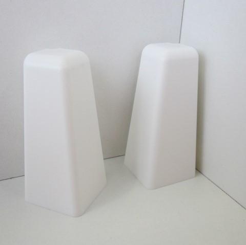 2 Aussenecken für Sockelleiste K58 - Weiß