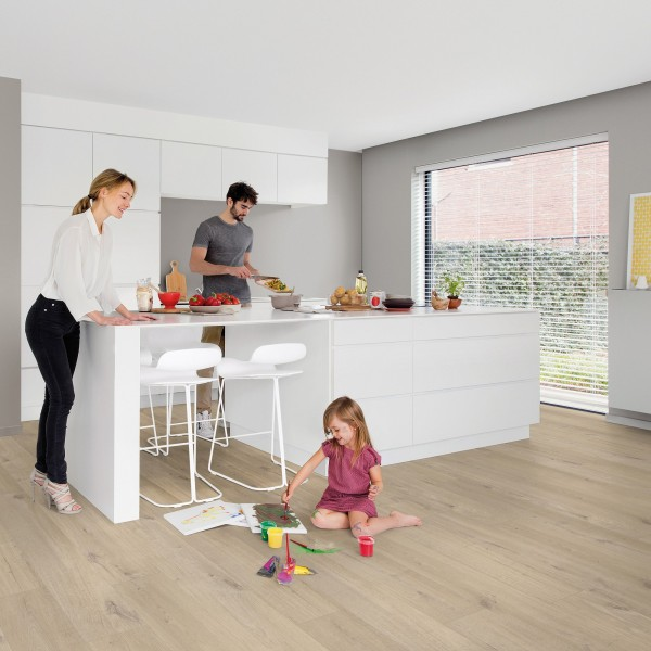 QuickStep 4,5mm Pulse Click - Eiche Baumwolle Beige PUCL 40103 I PUCP 40103
