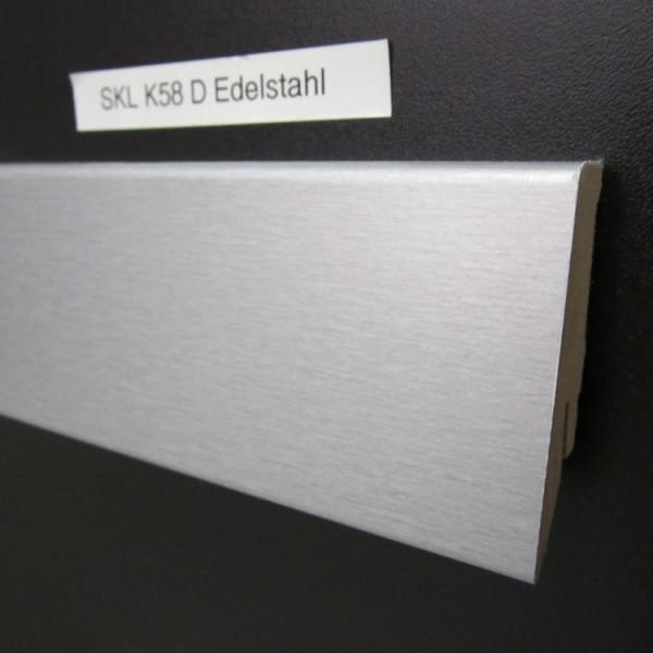 Sockelleiste K58 D003 Edelstahl Dekor