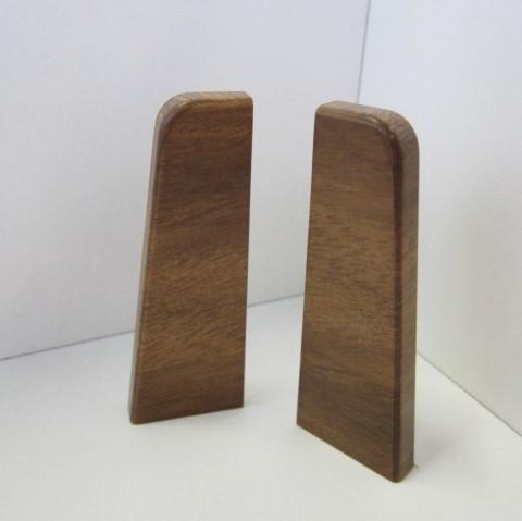 2 Abschlusskappen für Sockelleiste K58 - Nussbaum hell, Eiche antik