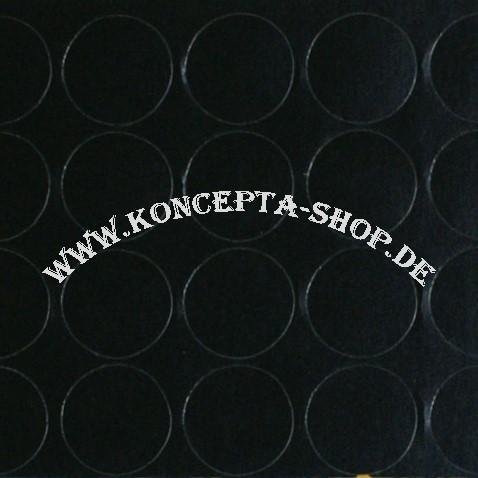 Abdeck-Klebepunkte 20325 Schwarz glatt 20mm