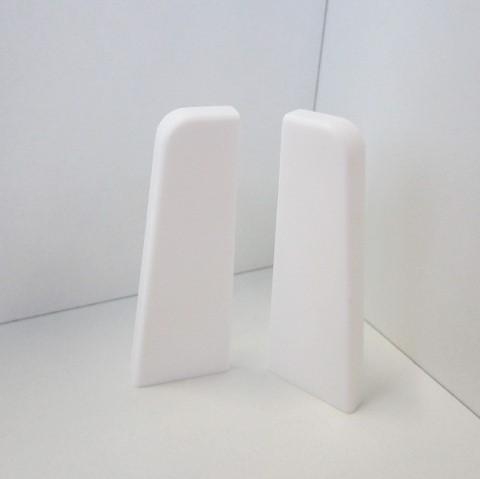 2 Abschlusskappen für Sockelleiste K58 - Weiß