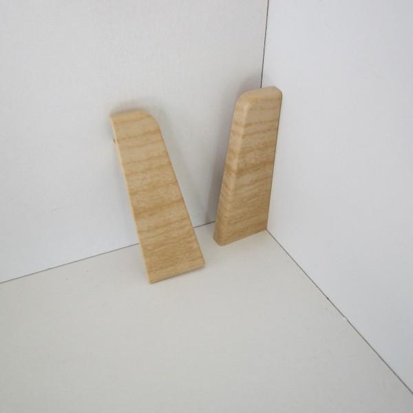 2 Abschlusskappen für Sockelleiste K58 - Ahorn, Esche