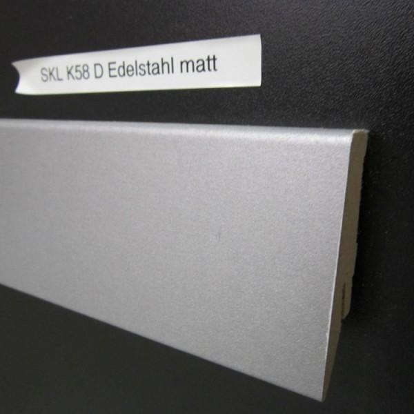 Sockelleiste K58 D004 Edelstahl matt Dekor