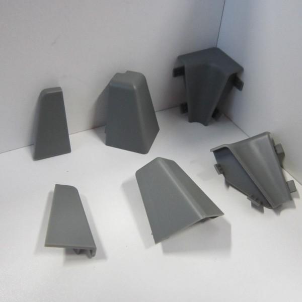 Ecken-Set für Sockelleiste K40C - Grau (Uni)