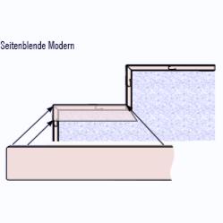Seitenblende für Treppenstufen - Modern