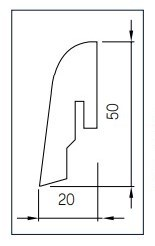 Amorim Sockelleiste 20x50 - Korkfurnier Chestnut