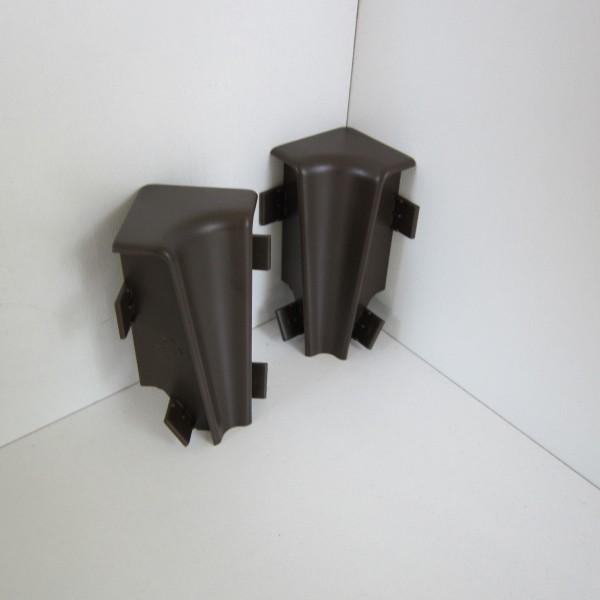 2 Innenecken für Sockelleiste K58 - Dunkelbraun (Uni)
