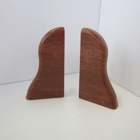 2 Abschlusskappen für Sockelleiste K40 - Merbau, Mahagoni, Kirsche dunkel
