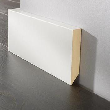 Sockelleiste DS 18/100 cube - 9002 weiß