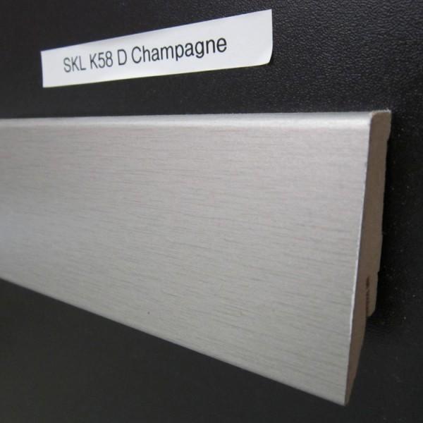 Sockelleiste K58 D005 Champagner Dekor