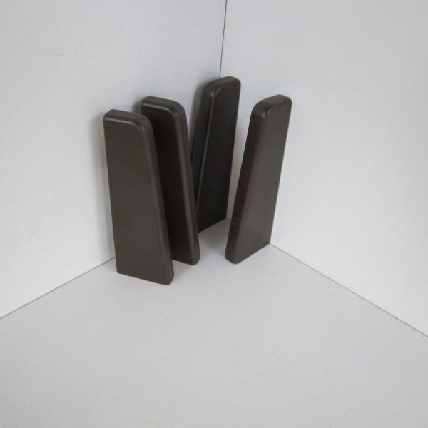 4 Abschlusskappen für Sockelleiste K58 - Dunkelbraun (Uni)