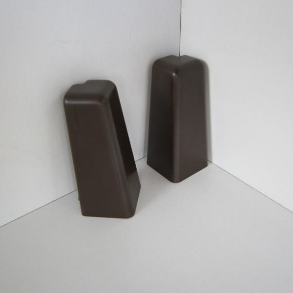 2 Aussenecken für Sockelleiste K58 - Dunkelbraun (Uni)