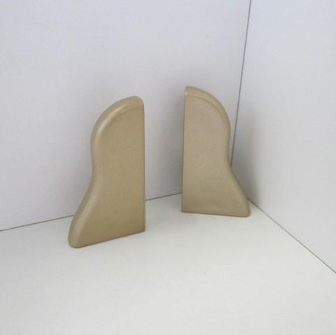2 Abschlusskappen für Sockelleiste K40 - Gold