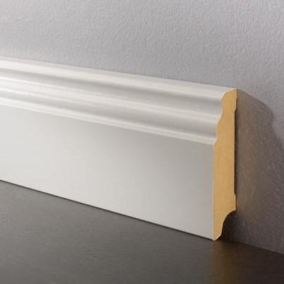 Sockelleiste DS 17/100 profiliert - 9002 weiß