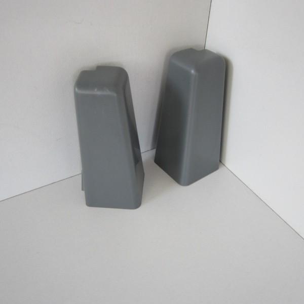 2 Aussenecken für Sockelleiste K58 - Grau (Uni)