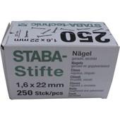Staba-Stifte (Stahlnägel) für Leisten- und Profilkrallen