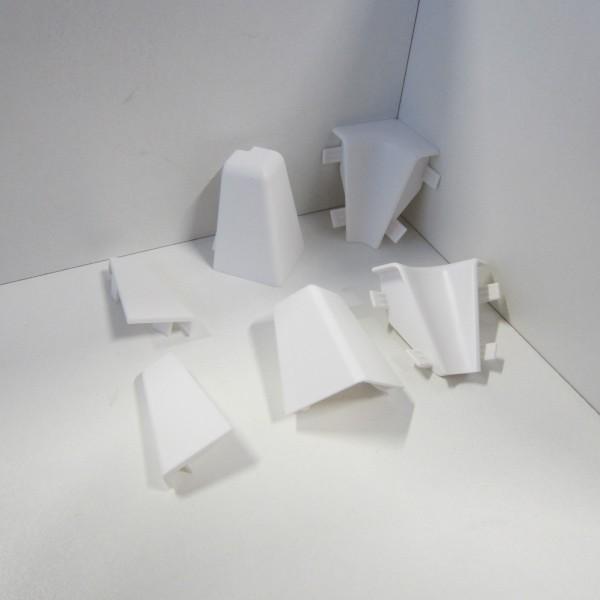 Ecken-Set für Sockelleiste K40C - Weiß (Uni)