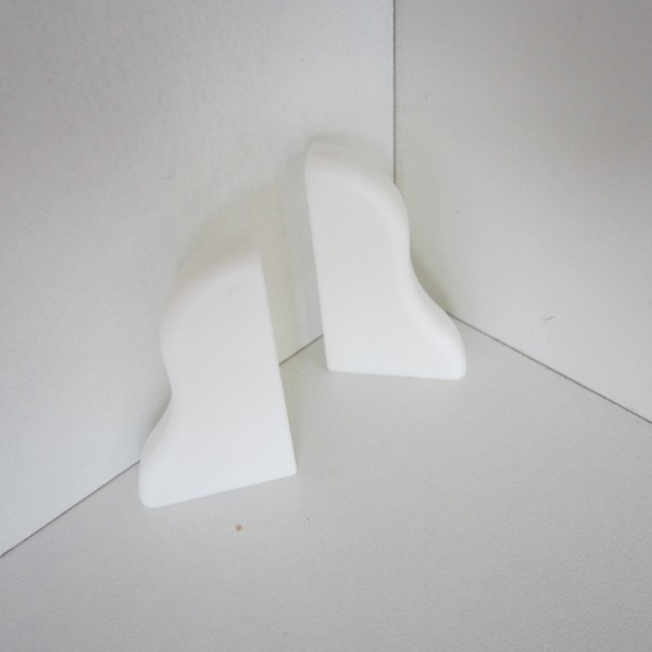 2 Abschlusskappen für Sockelleiste K40 - Weiß