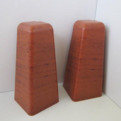 2 Aussenecken für Sockelleiste K58 - Doussie, Jatoba Kirsche dunkel