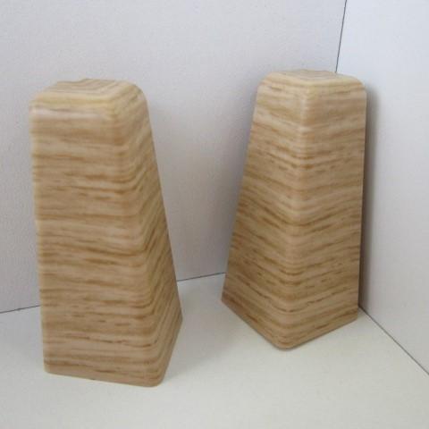 2 Aussenecken für Sockelleiste K58 - Eiche