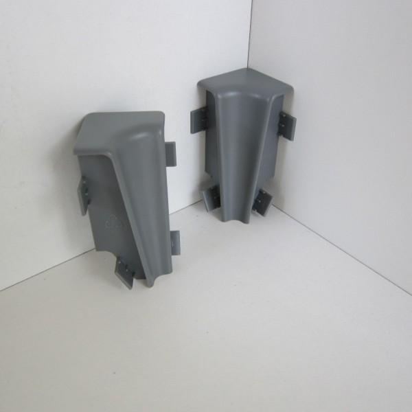 2 Innenecken für Sockelleiste K58 - Grau (Uni)