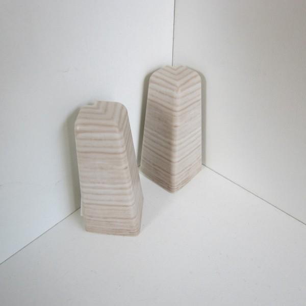 2 Aussenecken für Sockelleiste K58 - Eiche weiß