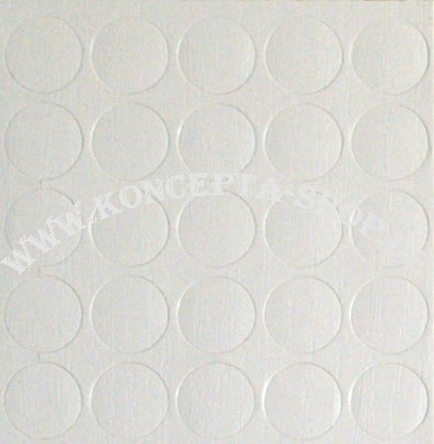 Abdeck-Klebepunkte 14319 Weiss Struktur 14mm