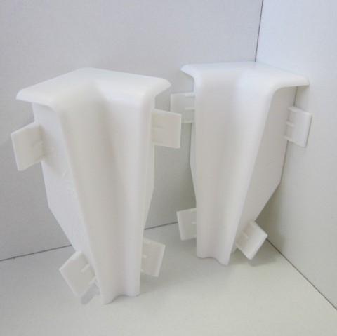 2 Innenecken für Sockelleiste K58 - Weiß