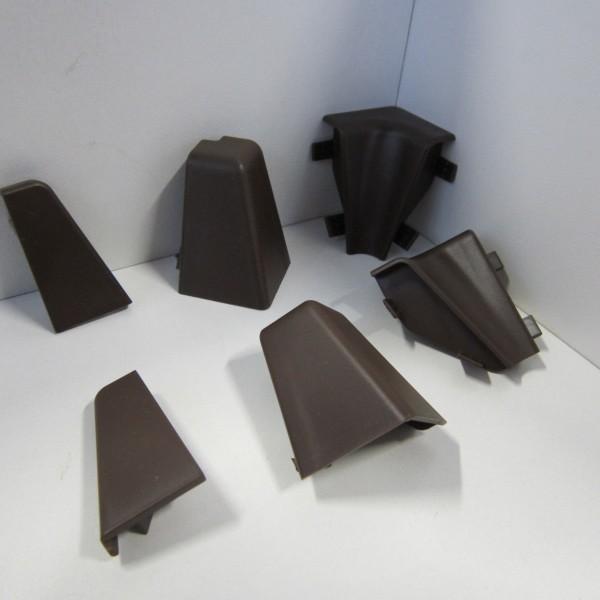 Ecken-Set für Sockelleiste K40C - Dunkelbraun (Uni)