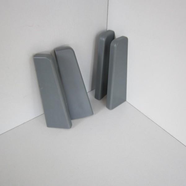 4 Abschlusskappen für Sockelleiste K58 - Grau (Uni)
