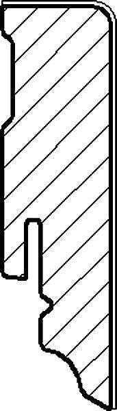 Sockelleiste furniert 16x58 - Eiche weiß/sand