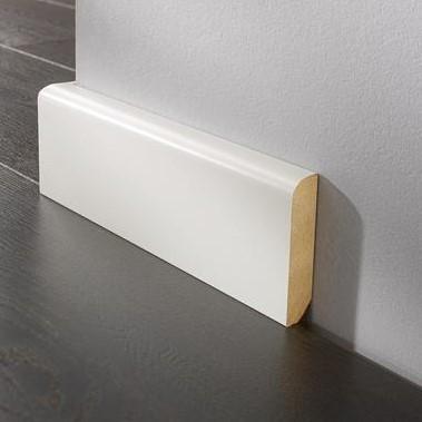 Sockelleiste DS 16/90 rund - 9002 weiß