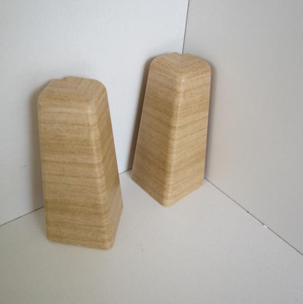 2 Aussenecken für Sockelleiste K58 - Ahorn, Esche